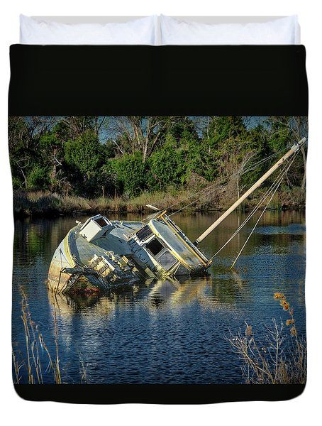 Abandoned Ship Duvet Cover