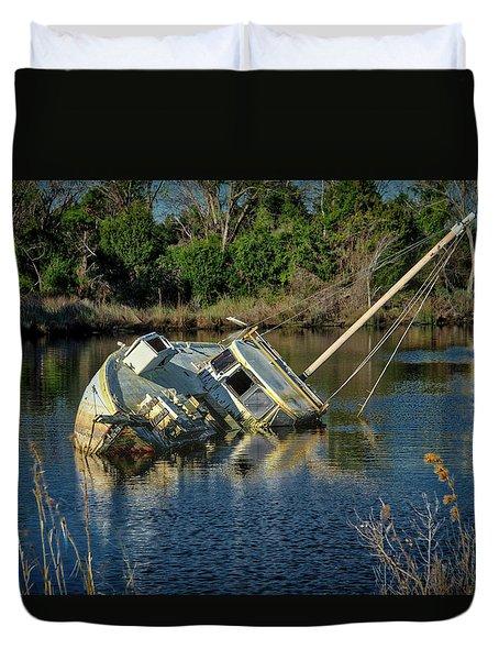 Abandoned Ship Duvet Cover