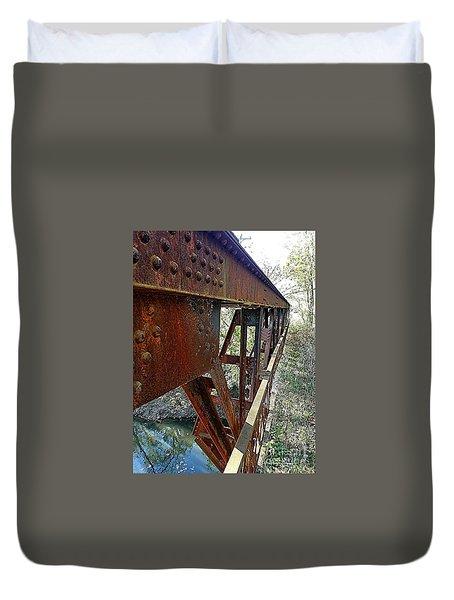Abandoned Steel Bridge Nashville Indiana Duvet Cover