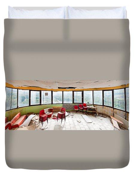Abandoned Tower Restaurant - Urban Panorama Duvet Cover by Dirk Ercken