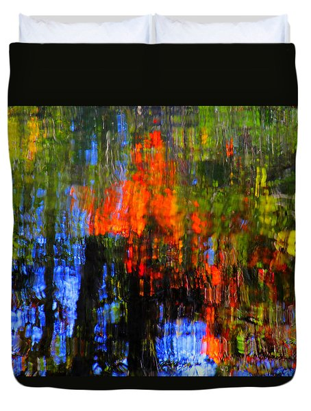 Duvet Cover featuring the photograph Abastract Fall Colors by Andy Lawless