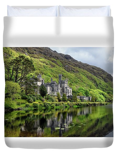 Abbey By The Lake Duvet Cover