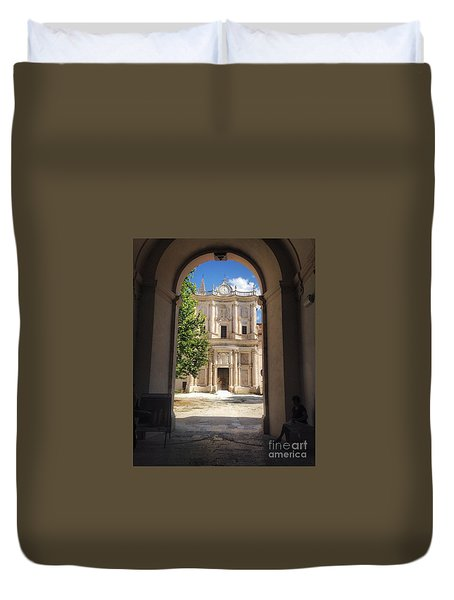 Abbey Of The Holy Spirit At Morrone In Sulmona, Italy Duvet Cover