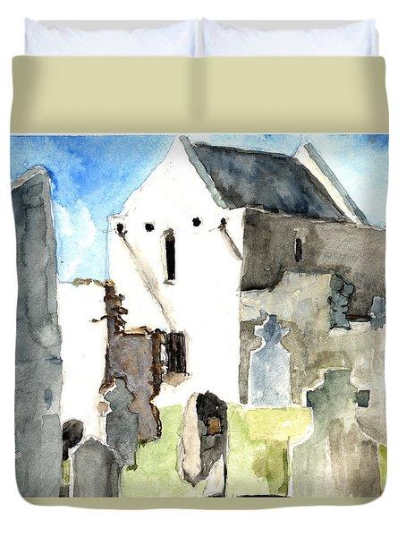 Abbey Watercolor Duvet Cover