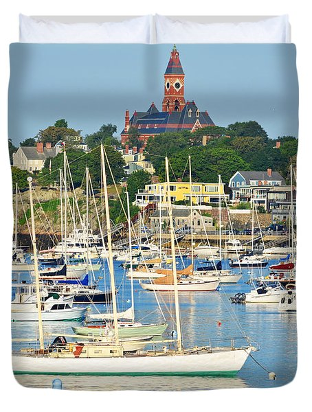 Abbot Hall Over Marblehead Harbor From Chandler Hovey Park Duvet Cover
