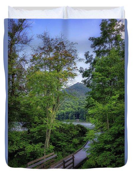 Abbott Lake Trail Duvet Cover