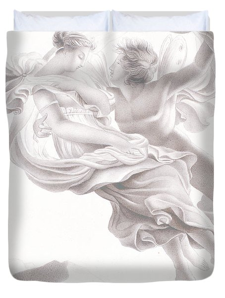 Abduction Of Psyche Duvet Cover