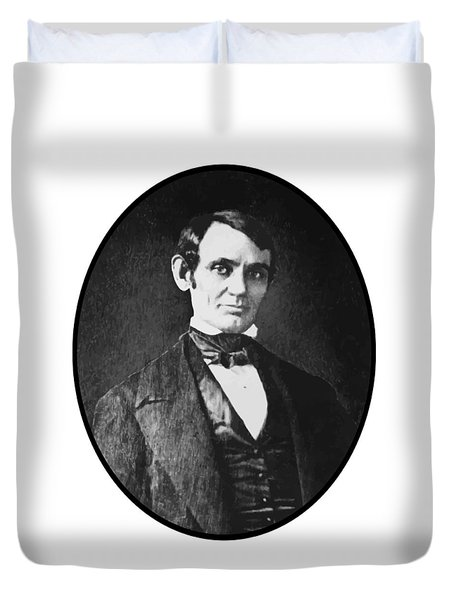 Abe Lincoln As A Young Man  Duvet Cover by War Is Hell Store