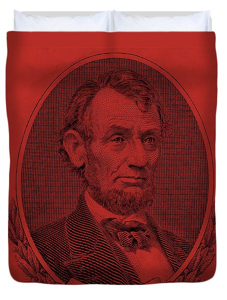 Duvet Cover featuring the photograph Abe On The 5 Orange by Rob Hans
