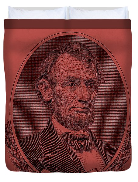 Duvet Cover featuring the photograph Abe On The 5 Peach by Rob Hans
