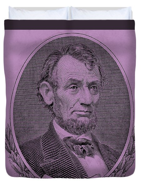 Duvet Cover featuring the photograph Abe On The 5 Pink by Rob Hans