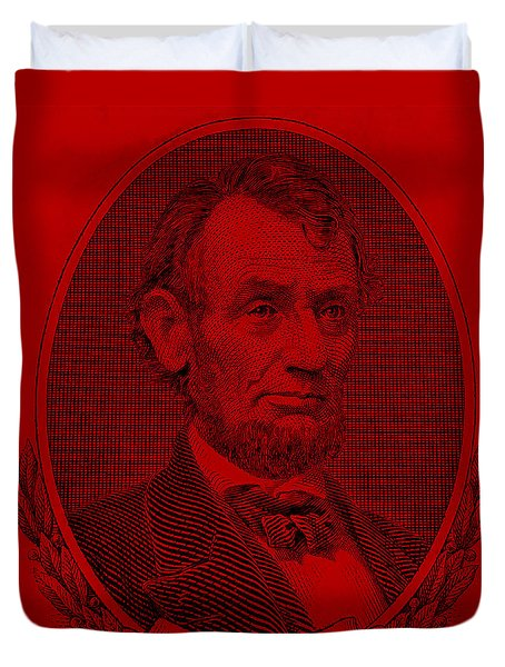 Duvet Cover featuring the photograph Abe On The 5 Red by Rob Hans