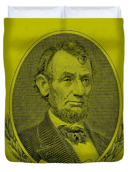 Duvet Cover featuring the photograph Abe On The 5 Yellow by Rob Hans