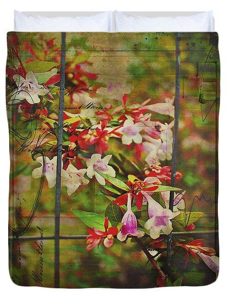Abelia Coming Through Duvet Cover by Bellesouth Studio