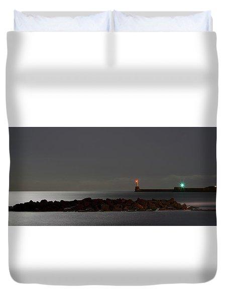 Aberdeen Beach At Night _ Pano 2 Duvet Cover