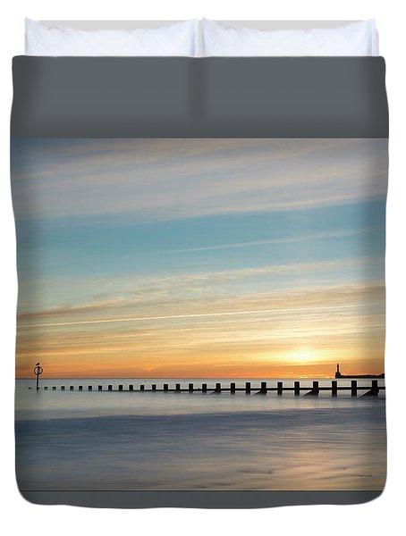 Aberdeen Beach Sunrise Duvet Cover