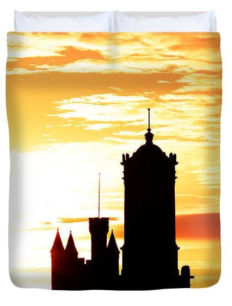 Aberdeen Silhouettes - Portrait Duvet Cover
