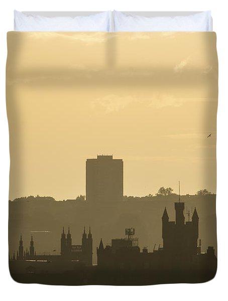 Aberdeen Skyline Silhouettes Duvet Cover