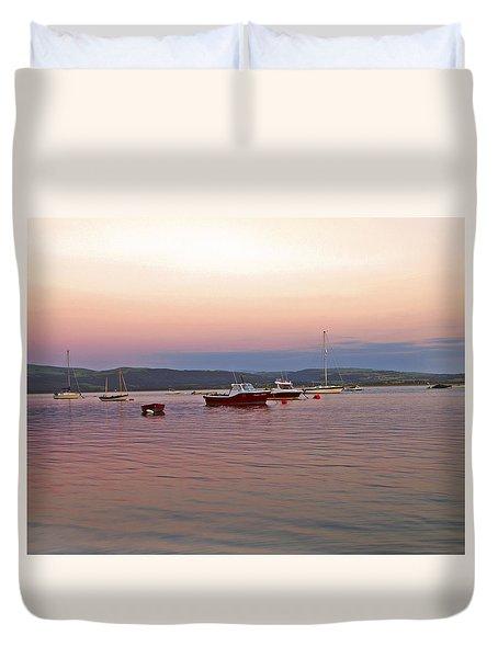 Aberdovey Moorings. Duvet Cover by Paul Scoullar