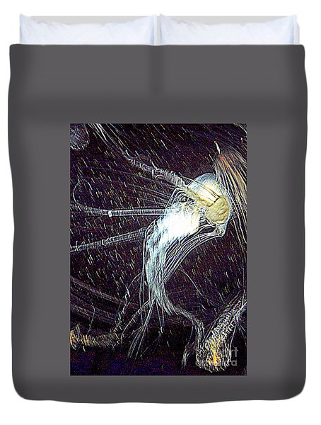 Duvet Cover featuring the photograph Aberration Of Jelly Fish In Rhapsody Series 2 by Antonia Citrino