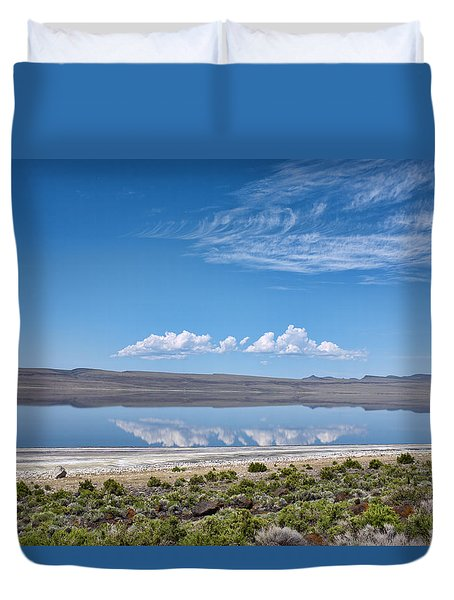 Duvet Cover featuring the photograph Abert Lake Oregon by Hugh Smith