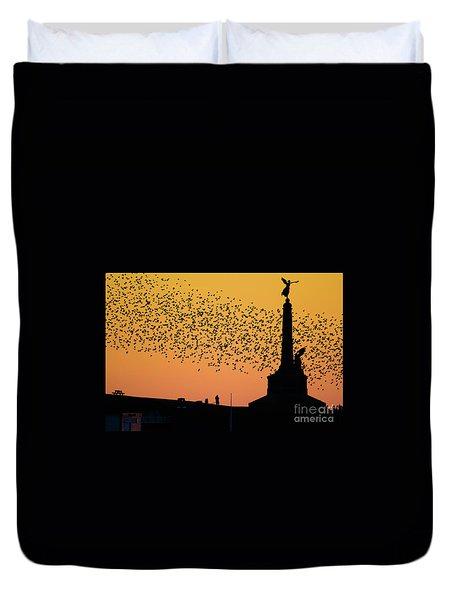 Aberystwyth Starlings Duvet Cover