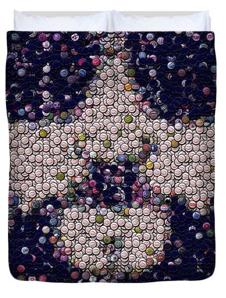 Abide Bottle Cap Mosaic Duvet Cover by Paul Van Scott