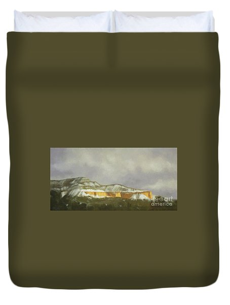 Abiquiu Band Of Gold Duvet Cover