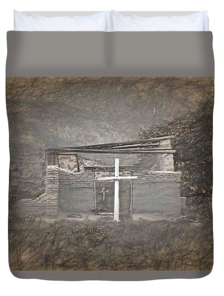 Abiquiu Nm Church Ruin Duvet Cover