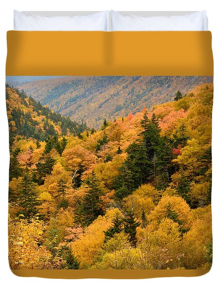 Ablaze With Autumn Glory Duvet Cover by Nancy De Flon