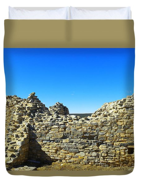 Duvet Cover featuring the photograph Abo Mission Ruins New Mexico by Jeff Swan