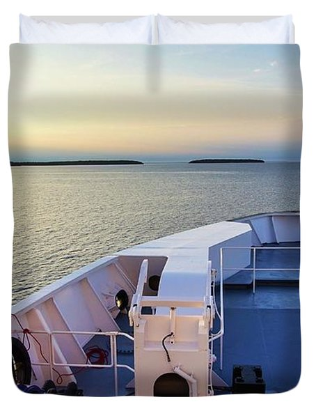 Aboard The Chi-cheemaun Duvet Cover