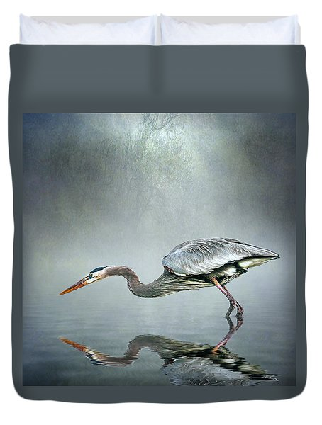 Duvet Cover featuring the photograph About To Strike by Brian Tarr