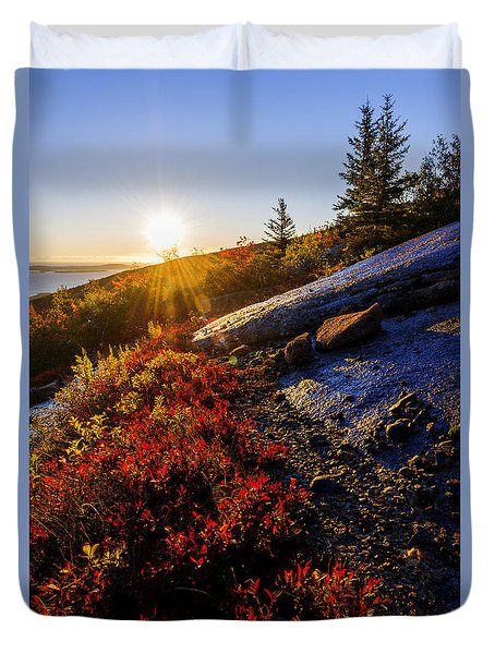 Above Bar Harbor Duvet Cover