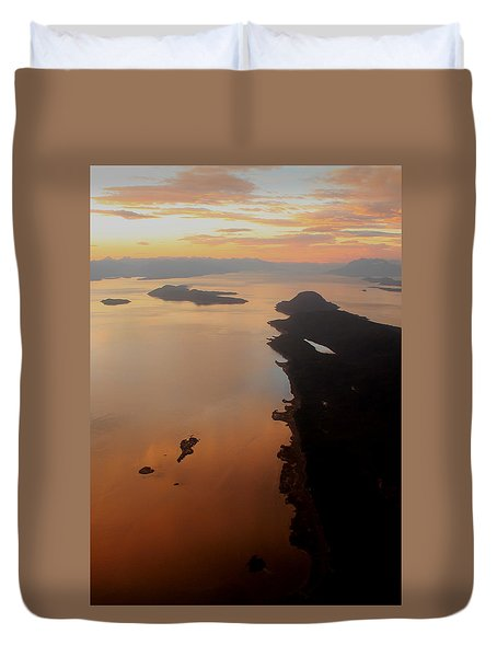 above Juneau Duvet Cover