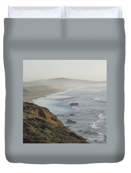 Looking Toward San Francisco Duvet Cover