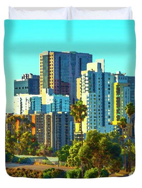 Vibrant City Duvet Cover