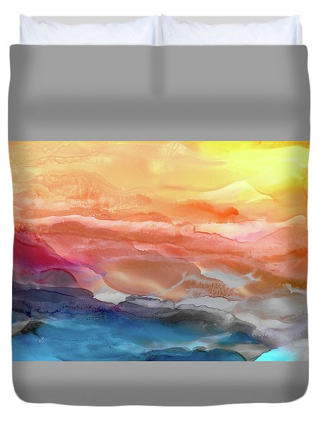 Above The Abyss Duvet Cover