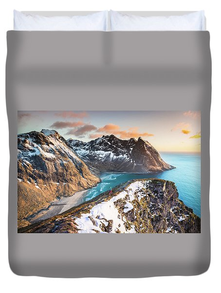 Above The Beach Duvet Cover