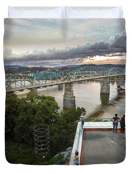 Above The Bluff, Musuem View Duvet Cover
