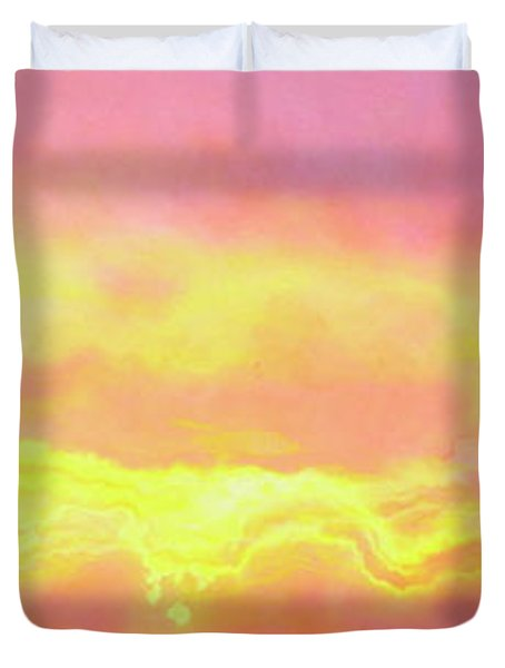 Above The Clouds - Abstract Art Duvet Cover