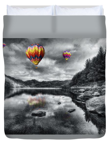 Above The Lake Duvet Cover
