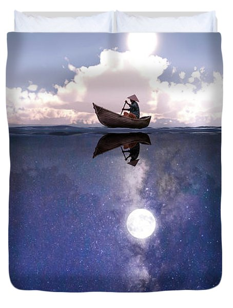 Above The Night Duvet Cover