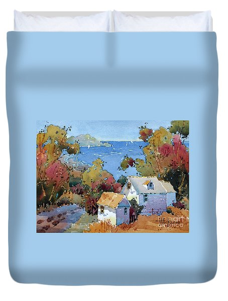 Above The Pacific Duvet Cover