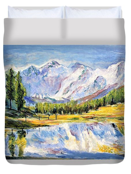 Above The Sea Level Duvet Cover
