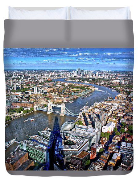 Above The Shadow Of The Shard Duvet Cover by Jim Albritton