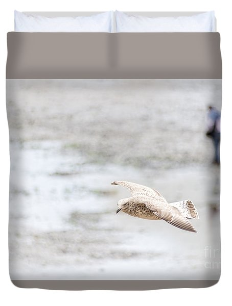 Duvet Cover featuring the photograph Above The Watten Sea 2 by Hannes Cmarits