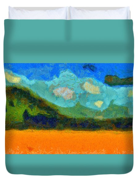 Above The Woods Duvet Cover
