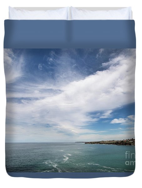 Duvet Cover featuring the photograph Above Us Only Sky by Linda Lees