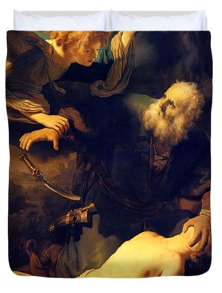 Abraham And Isaac Duvet Cover